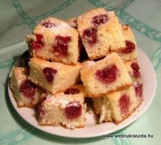 Kevert meggyes pite Hungarian Recipes, French Toast, Muffin, Yummy Food, Sweets, Breakfast, Nova, Morning Coffee, Delicious Food