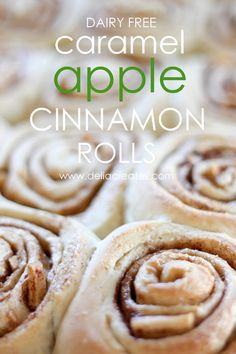 Caramel Apple Cinnamon Rolls (Dairy Free) {Christmas Tradition Series}