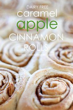 Caramel Apple Cinnamon Rolls (Dairy Free) {Christmas Tradition Series}