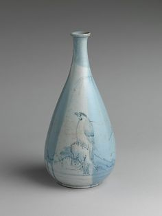 Wine Bottle with Bird, Rock, and Willow Edo period (1615–1868) Date: ca. 1635–40 Culture: Japan