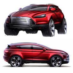 Ford Kuga Concept Design Sketch by Denis Zhuravlev