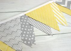 Bunting Fabric Banner Fabric Flags Nursery Decor by thespottedbarn, $32.50