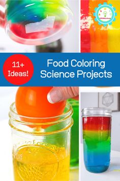 Is there anything more fun than colorful science experiments for kids? We dont think so! Thats why we do so many science experiments with food coloring! 3rd Grade Science Experiments, Amazing Science Experiments, Science Kits, Science Fair Projects, Science For Kids, Color Activities, Stem Activities, Rainbow Baking, Liquid Food Coloring