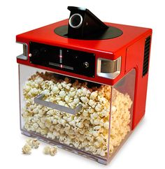 Popinator, it shoots popcorn in your mouth on demand.... Entertainment for hours