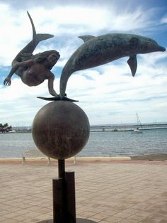 Mermaid and Dolphin Statue, La Paz, Baja California Sur, Mexico  Search - Google+