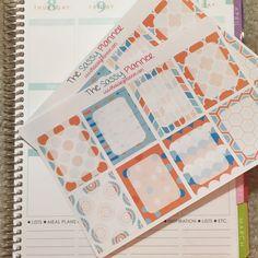 NEW! January Monthly Write-On Full Box Stickers for Erin Condren Life Planner/Plum Paper Planner - Set of 16
