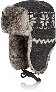 9be8dbf2f67d2 Crown Cap Men s Fur-Trimmed Wool Trapper Hat Barneys New York