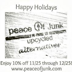 Peace of Junk LLC   Code: HOLIDAYSALE  #cybermonday #smallbiz #boutique #jewelry #soycandles #hair #art ♻❤