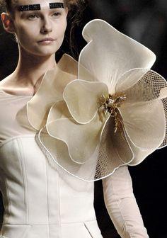 Couture Details, Fashion Details, Indian Designer Outfits, Designer Dresses, Floral Fashion, Fashion Dresses, Prom Dress Couture, Lobe, Embroidery Fashion