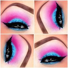 Cotton candy makeup perfect for Halloween