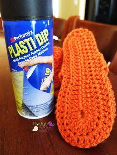 https://hodgepodgecrochet.wordpress.com/ DIY Non-Slip Crochet Slippers
