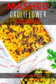 This Keto Cauliflower Casserole is so rich, creamy, and delicious that you won't miss the carbs! Cheesy, buttery comfort food like this is satisfying in its own right and makes a hearty side that both kids and adults will love. This is a company-worthy dish a turn to again and again.