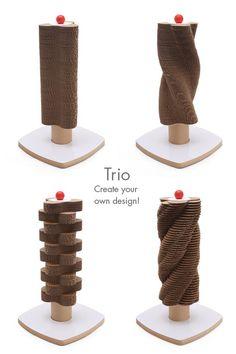Modern Cardboard Cat Scratching Tower