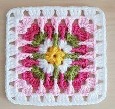 Crochet World added a new photo. Crochet Square Blanket, Granny Square Crochet Pattern, Crochet Blocks, Crochet Stitches Patterns, Crochet Squares, Crochet Motif, Crochet Designs, Crochet Doilies, Crochet Flowers