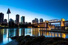 View of the Burrard Street Bridge at night in #Vancouver. #explorebc