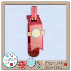 Pretty Paper, Pretty Ribbons Bottle Tag 1 Cutting Files