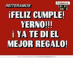 imagenes de feliz cumpleanos yerno Happy Birthday Quotes, Birthday Wishes, Son In Law, Holidays And Events, Birthdays, Memes, Facebook, Salvador, Ideas Para