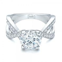 Custom Platinum and Diamond Engagement Ring #JosephJewelry