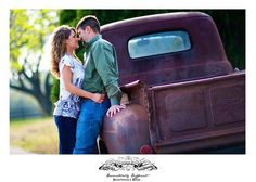 Country, Texas, Engagement, Session, classic, antique, Ford, truck