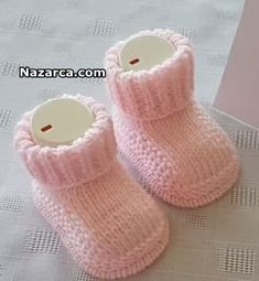 BİRİT KENARLI ÖRGÜ BEBEK PATİK YAPIMI | Nazarca.com Knitted Booties, Baby Knitting Patterns, Baby Shoes, Slippers, Booty, Children, Clothes, Wordpress, Tricot