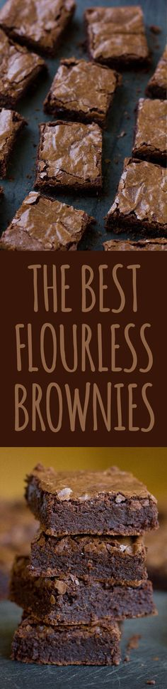 We loved how these flourless brownies came out. We loved how these flourless brownies came out. Thick fudgy and We loved how these flourless brownies came out. Thick fudgy and chewy. Best of all- no strange ingredients just the good stuff! Flourless Desserts, Low Carb Desserts, Gluten Free Desserts, Healthy Desserts, Just Desserts, Low Carb Recipes, Delicious Desserts, Dessert Recipes, Cooking Recipes
