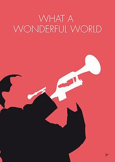 MY LOUIS ARMSTRONG Minimal Music poster Hand-crafted Unique metal posters by Chungkong Art, by buying 1 displate, you plant 10 trees. Louis Armstrong Wonderful World, Minimalist Music, Minimalist Photos, Music Collage, Minimal Poster, Smooth Jazz, Avicii, What A Wonderful World, Concert Posters