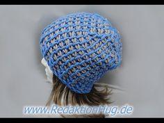 Tunesisch Häkeln - Mütze mit 15er Nadel aus hatnut cool von Pro Lana - YouTube