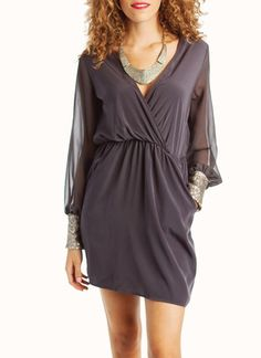 $36sequined cuff dress