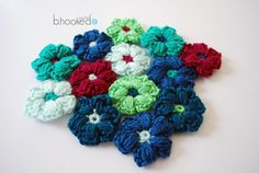 Puff Stitch Flowers pattern and video
