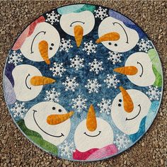 Kisses from Heaven Round Applique Quilt Pattern designed by JoAnn Hoffman of CompuQuilter Designs #accuquilt
