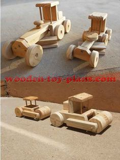 Free woodworking project plans to build wooden construction toys using only stock timber and common hand tools.