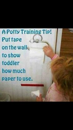 Toilet training idea for toddlers