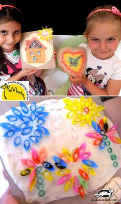 Pictures from drinking straws and salt dough Diy Straw Crafts, Recycled Crafts Kids, Summer Crafts, Fall Crafts, Crafts For Kids, Arts And Crafts, Diy Crafts, Drinking Straw Crafts, Preschool Activities