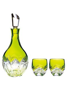 Waterford Crystal 'Mixology' decanter & pair of glasses.