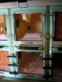 Capsule Hotel In Japan...And this is your room...Lucky you!