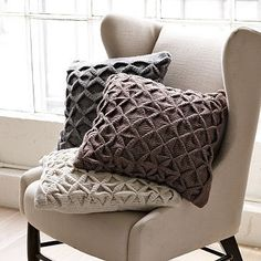 West Elm offers modern furniture and home decor featuring inspiring designs and colors. Create a stylish space with home accessories from West Elm. Sweater Pillow, Crochet Pillow, Knitted Pillows, Grey Pillows, Throw Pillows, Accent Pillows, Pillow Texture, Living Room Inspiration, Decorating Your Home