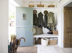 We share our 5 boot room essentials to support country living, creating a stylish and practical space which is an integral part of The English Home Boot Room Storage, Bench With Shoe Storage, Porch Storage, Entryway Storage, Bike Storage, Entryway Ideas, Boot Room Utility, Cottage Porch, Cottage Hallway