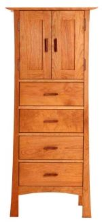 Contemporary Craftsman Storage Chest | Hand Made in USA with Natural Solid Wood