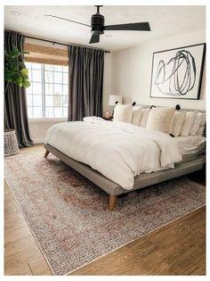 Modern Master Bedroom, Master Bedroom Design, Cozy Bedroom, Home Decor Bedroom, Bedroom Furniture, Contemporary Bedroom, Bedroom Designs, Bedroom Curtains, Stylish Bedroom