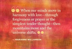 ....Harmony with love..through forgiveness and prayer......universe shifts..