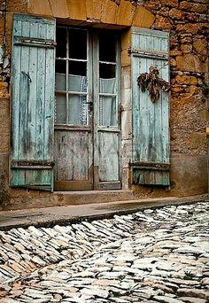 Old Door In Village, Aquitaine ,Dordogne Valley ,France