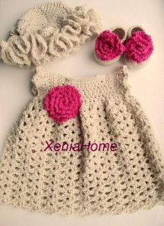 03 months Baby Girl Dress in Cotton Shoes/Booties and door XeniaHome, $38.00