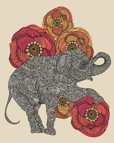 """Rosebud"" art print #Valentina"