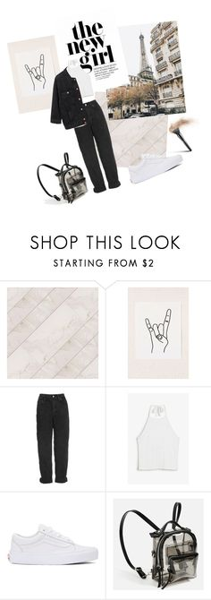 """""""Blå Mandag denim on denim"""" by fashion-by-katrine ❤ liked on Polyvore featuring Urban Outfitters, Topshop, Monki, Vans and Belgique"""