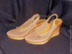 Veronica crochet y tricot...: Lindas sandalias