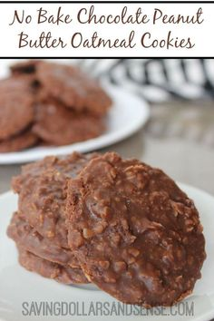 No Bake Chocolate Peanut Butter Cookies - YUM!!