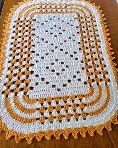 Crochet Round, Filet Crochet, Crochet Motif, Crochet Patterns, Crochet Stitches, Crochet Table Mat, Baby Blanket Crochet, Crochet Baby, Diy Crafts Crochet