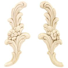 Small Floral Wood Appliques