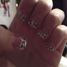 Cheetah Solar nails ❤
