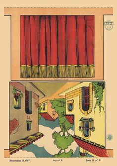 T-Teatro-Guiñol-(Titeres).-Serie-B-Nº31-Hoja-nº2.-Recortables-Baby.-Barcelona-[CAT].1930-1939